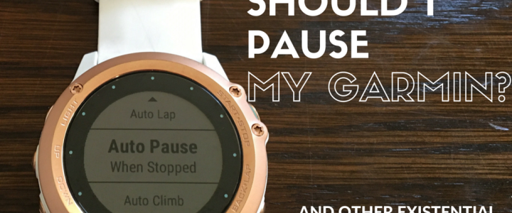 Should I pause my Garmin, and other existential runner questions